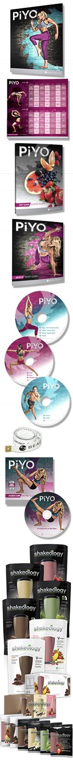 PiYo Challenge Pack Contents