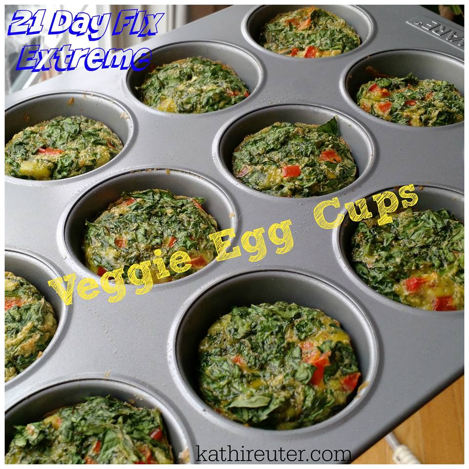 Mini Vegetable Spinach Egg Cups | 21 Day Fix Extreme Recipe