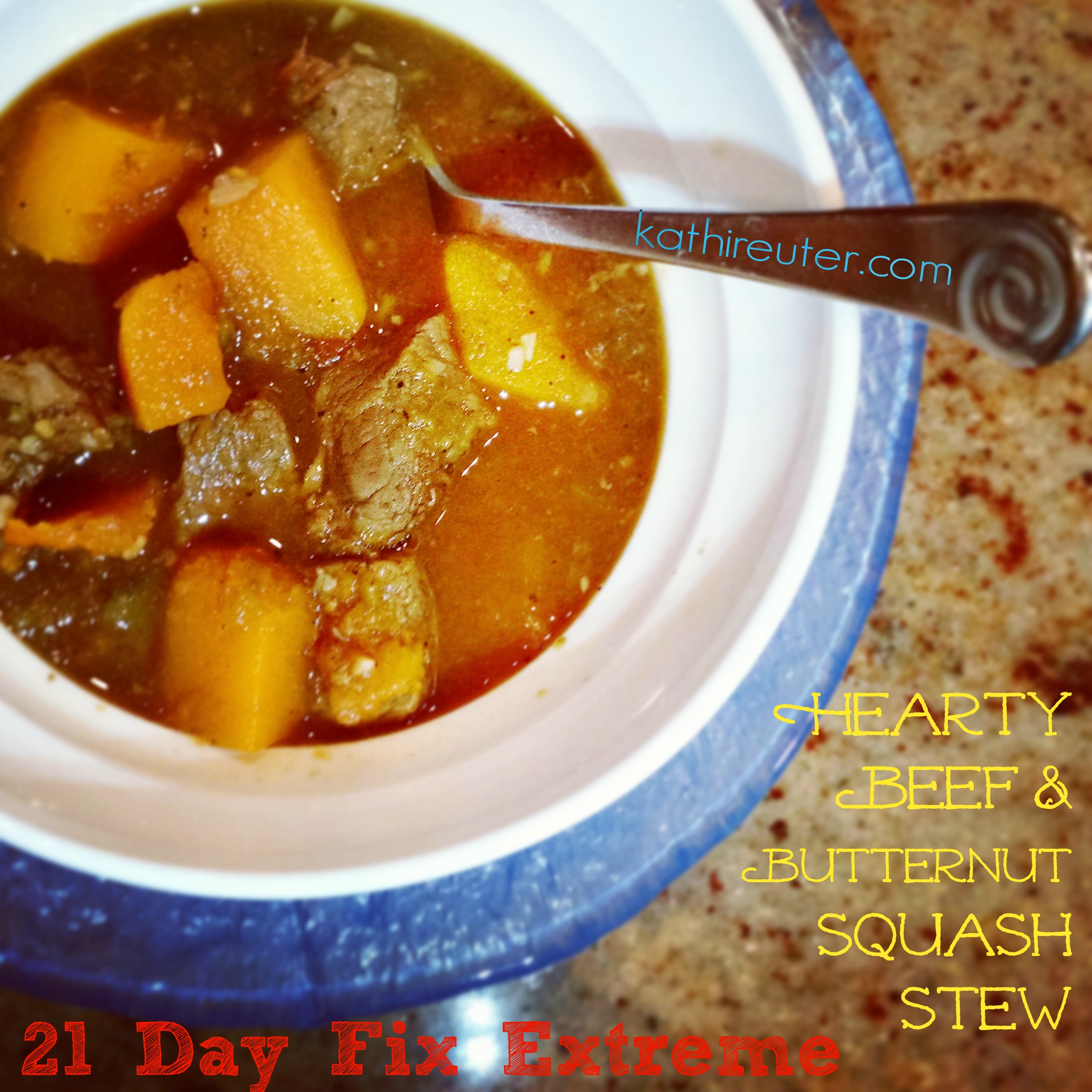 Hearty Beef and Butternut Squash Stew | 21 Day Fix Extreme
