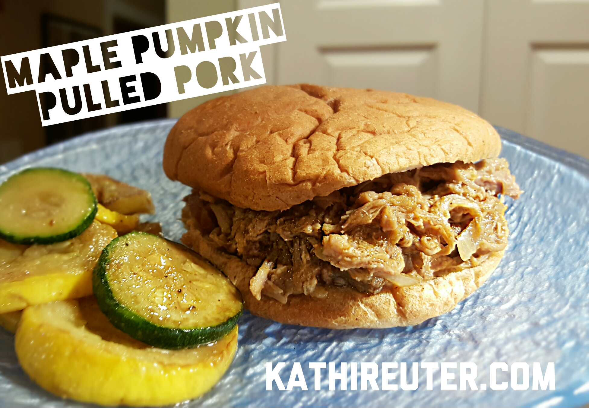 Crockpot Maple Pumpkin Pulled Pork | 21 Day Fix Recipes