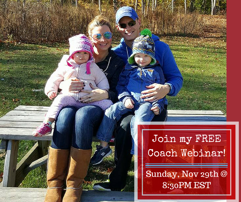 I'm running my first Coaching Webinar THIS SUNDAY, November 29th at 8:30PM EST!