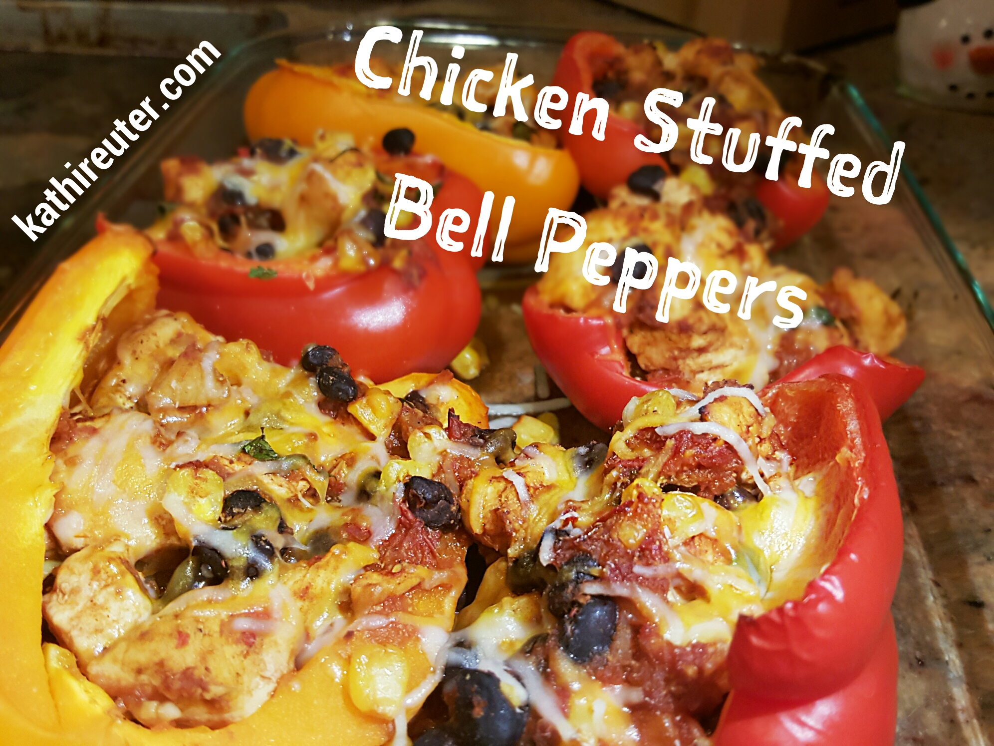 Chicken & Quinoa Stuffed Bell Peppers | Clean Eating Recipes