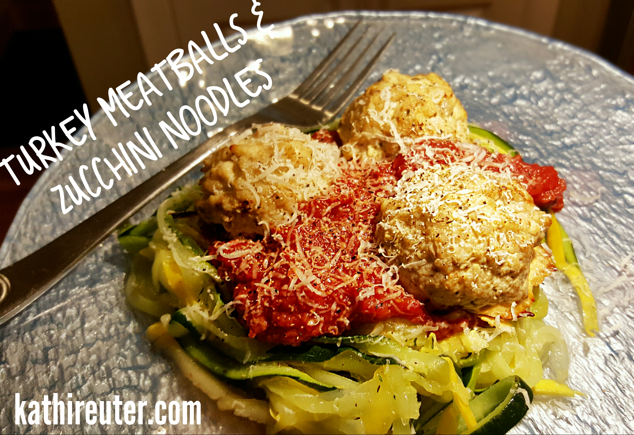 Turkey Meatballs with Zucchini Noodles (Zoodles) | Healthy Clean Eating Recipes