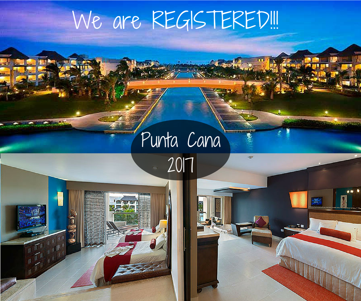 We are REGISTERED for the 2017 Success Club Trip to the Hard Rock in Punta Cana, Dominican Republic!