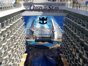back of oasis of the seas