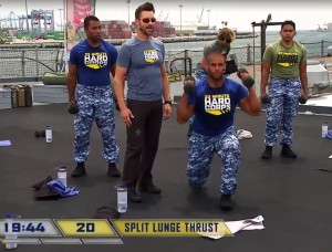 22 minute hard corps resistance 3 split lunge thrust