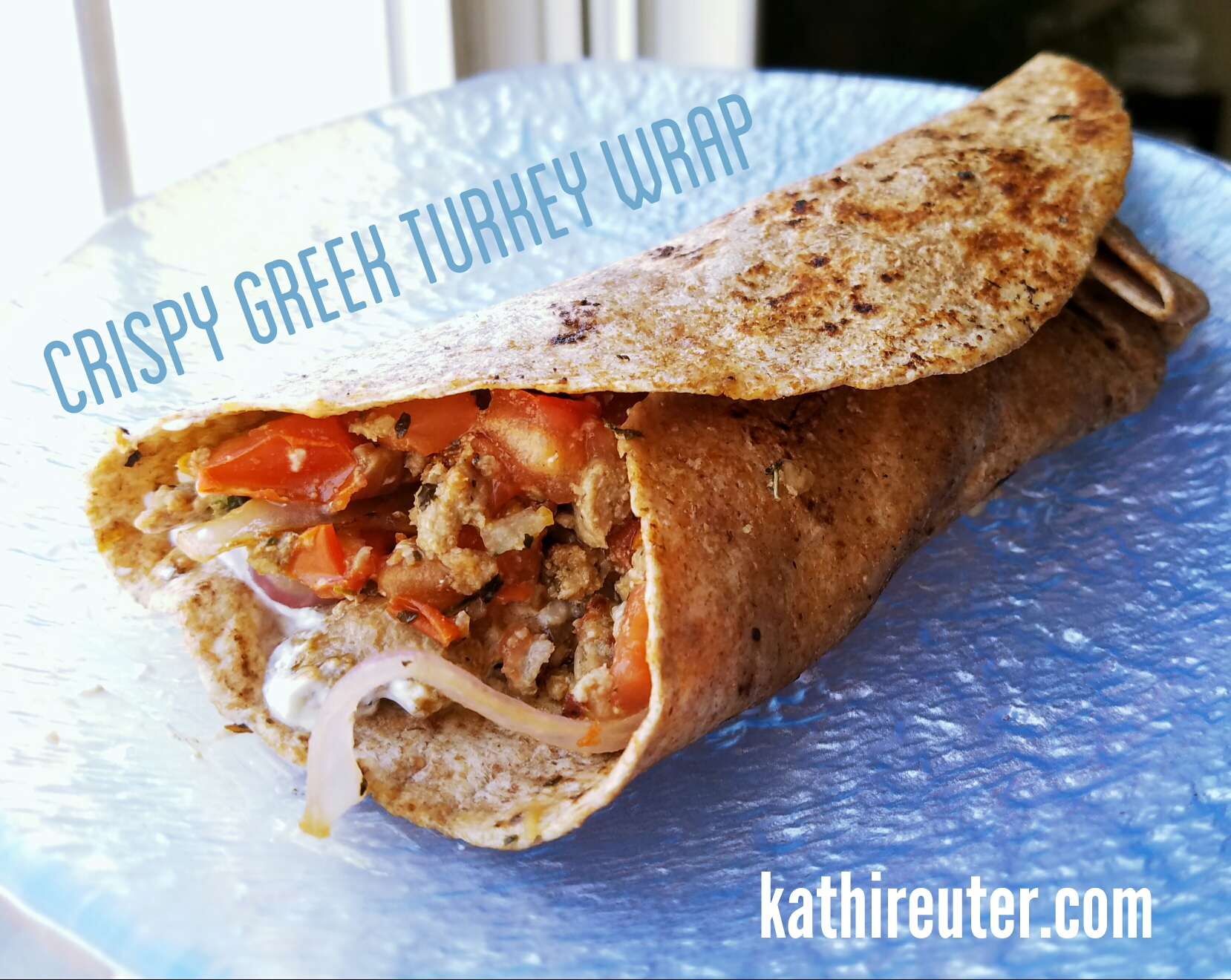 Crispy Greek Turkey Wrap | Clean Eating Recipes