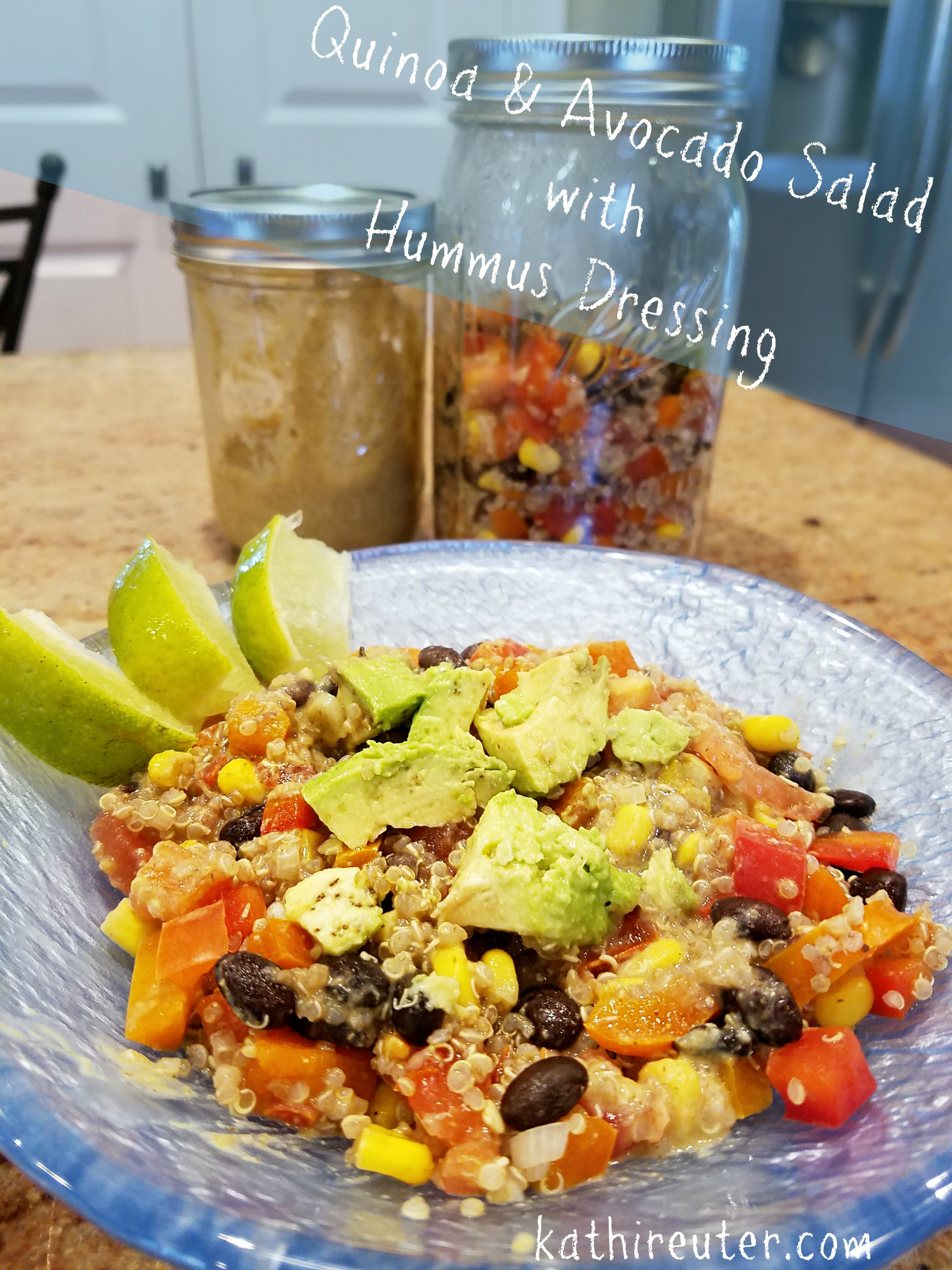 Quinoa and Avocado Salad with Hummus Dressing | Clean Eating Recipes
