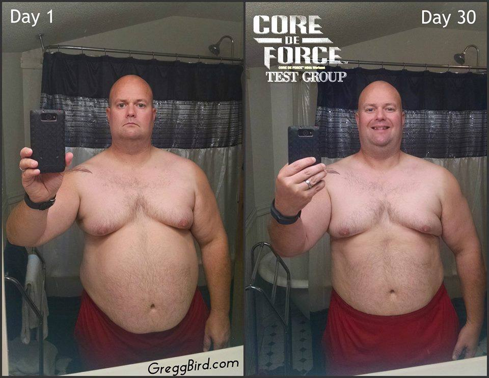 core de force weight loss progress kathi reuter