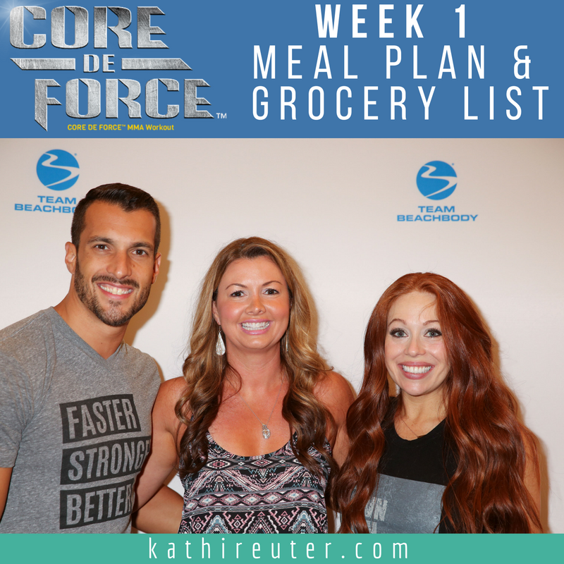 "Core De Force Meal Planning | My Week #1 Meal Plan and Grocery List (Plan ""A"")"