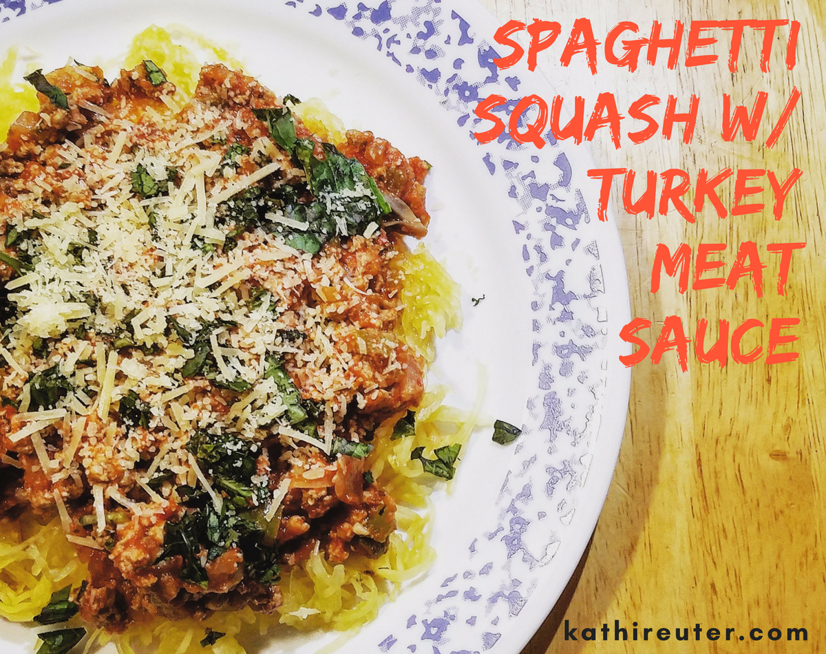 Spaghetti Squash with Homemade Turkey Meat Sauce | Clean Eating Recipes