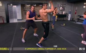 core de force mma power uppercut cross uppercut side kick