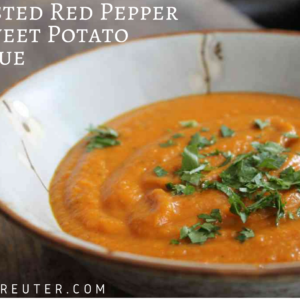 Roasted Red Pepper & Sweet Potato Bisque